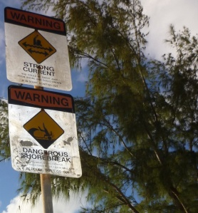 Road Sign at the Banzai Pipeline Beach