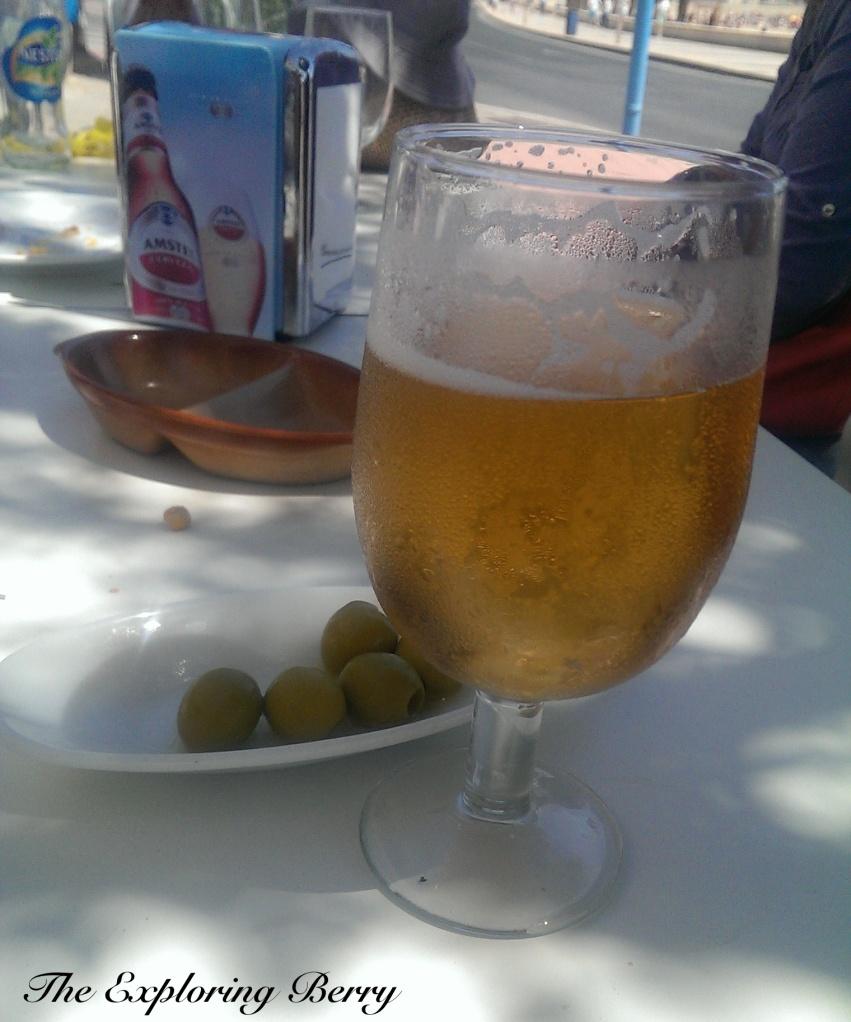 Enjoying a bar along the beach walk in San Juan