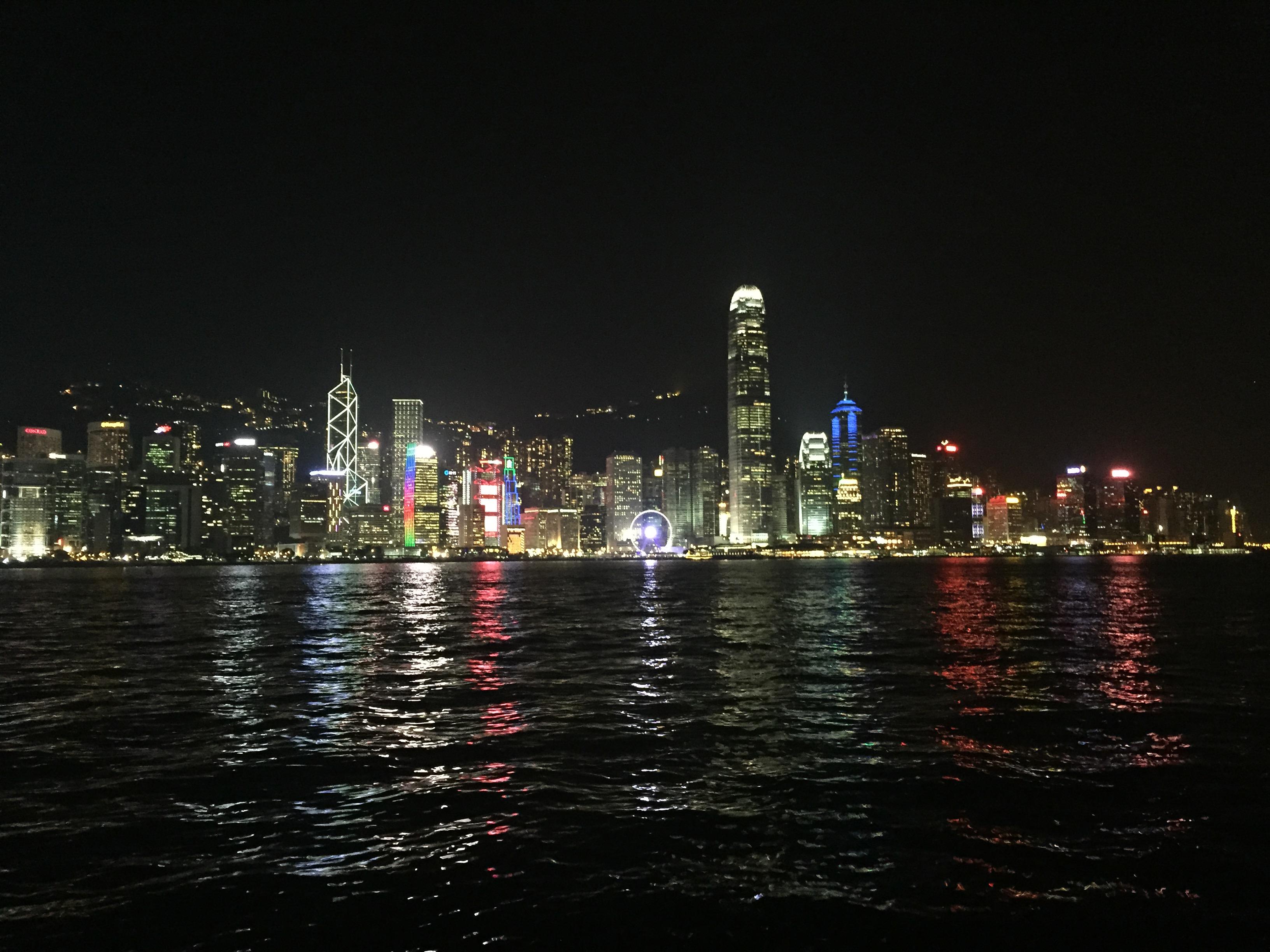 Victoria Harbour at night