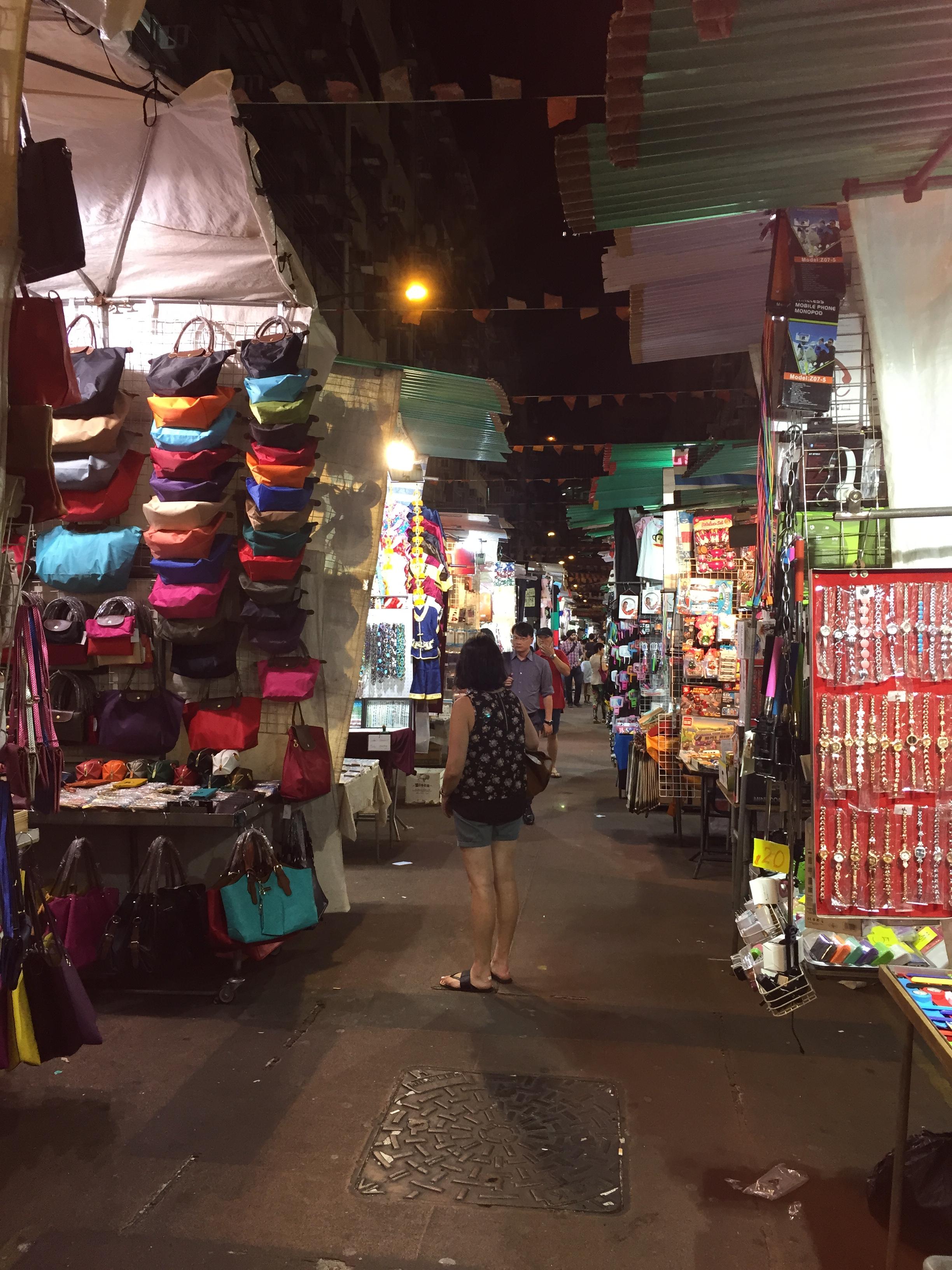Night Market en Hong Kong