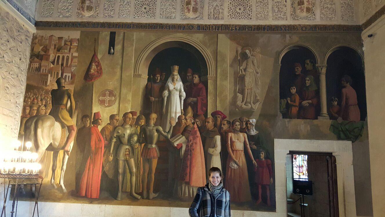 Inside Segovias Castle