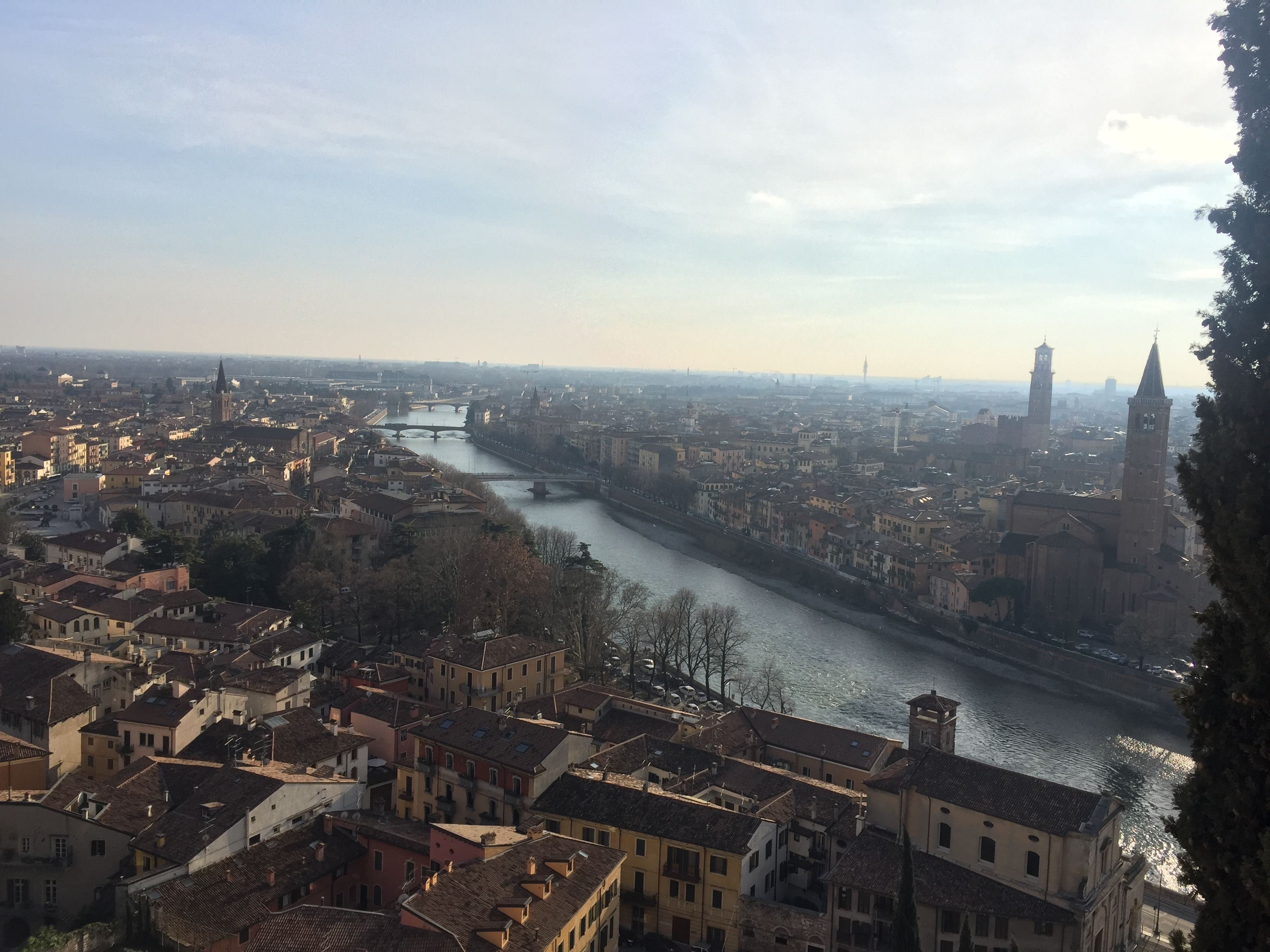 View of Verona from the castle