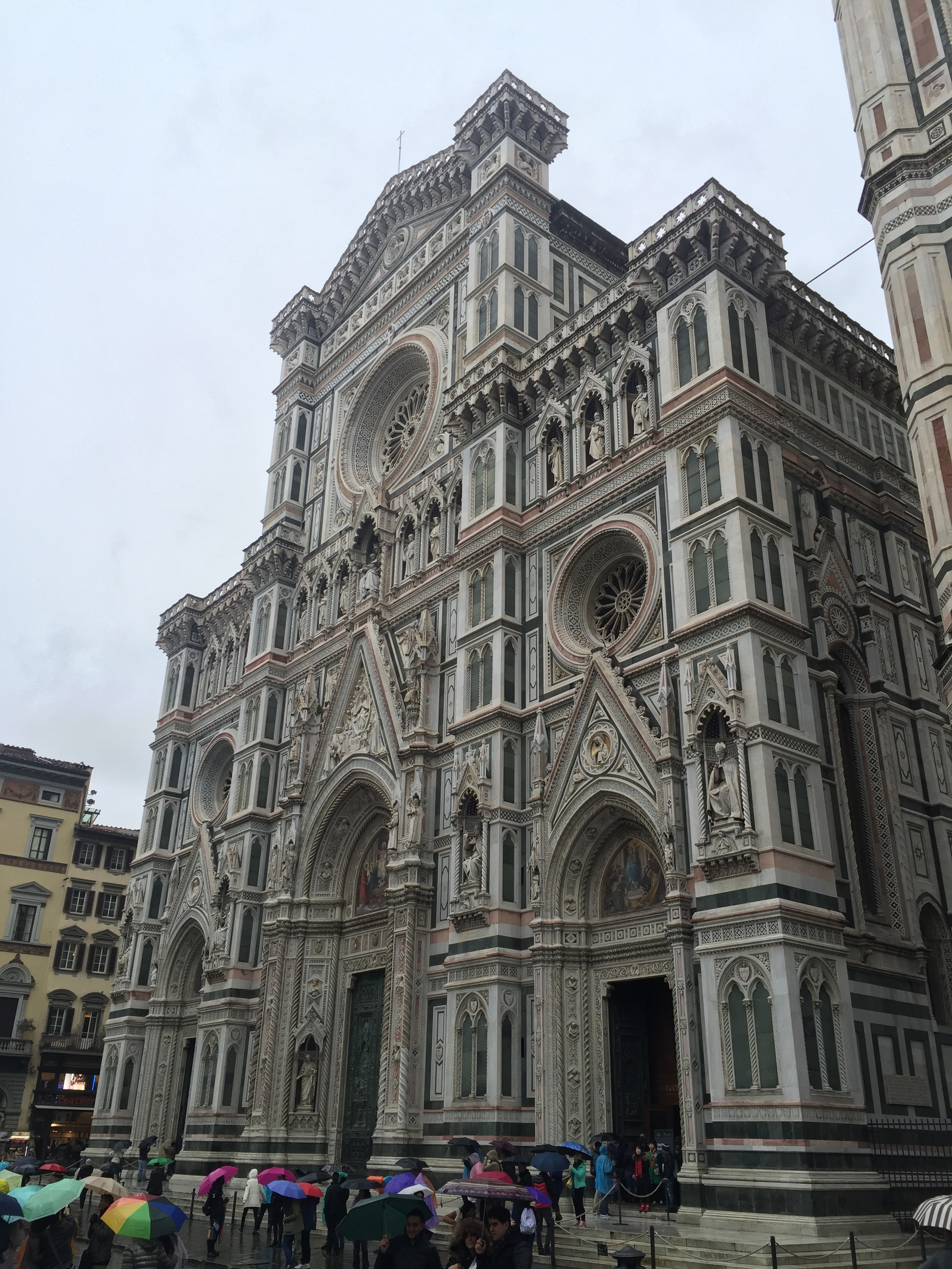 The front facade of the cathedral of Florence