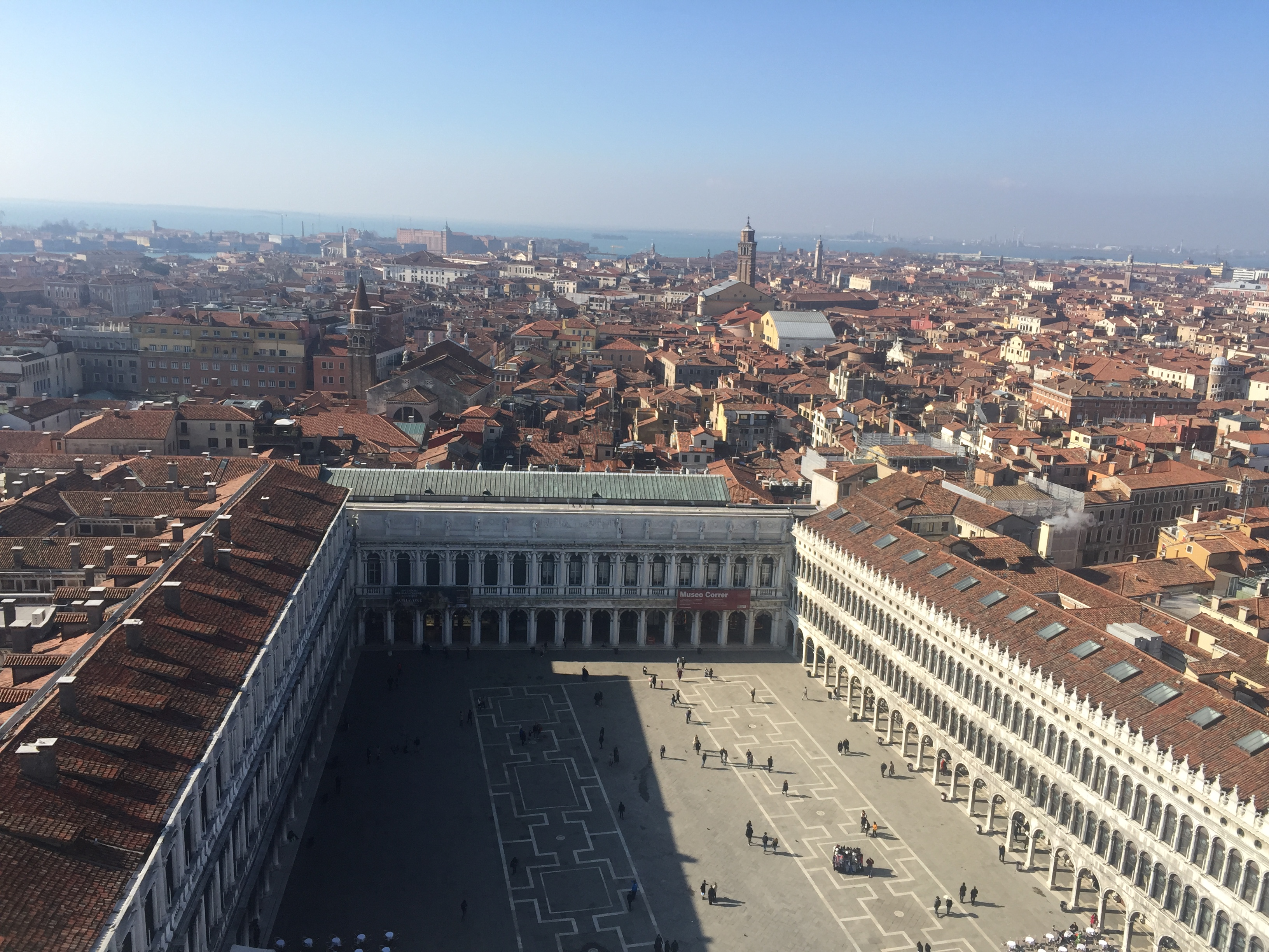 Piazza di San Marco as seen from the top of the Campanile di San Marco