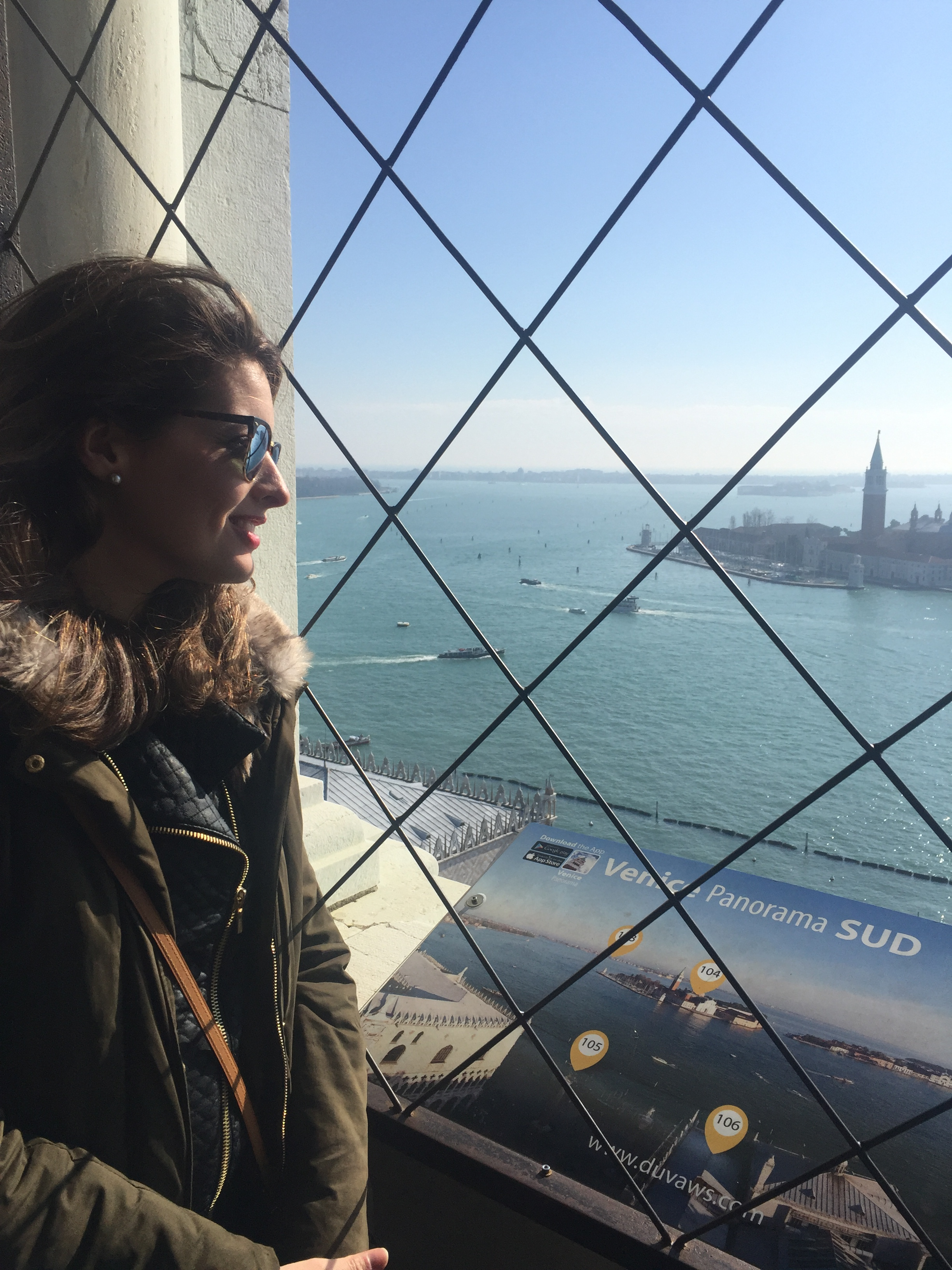 Happy travels from the top of the Campanile di San Marco