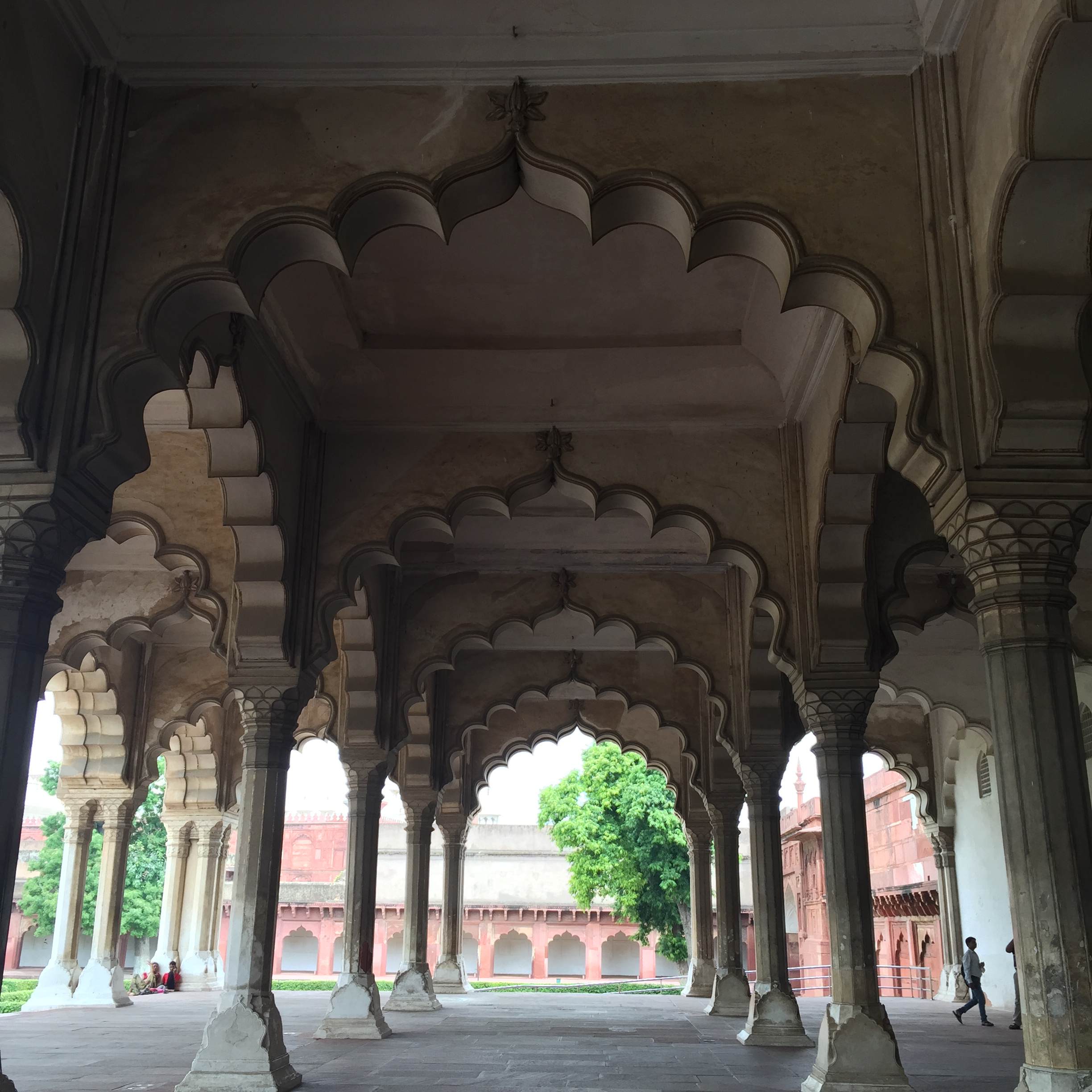 Agra Fort: arches of the Hall for Public Audiences