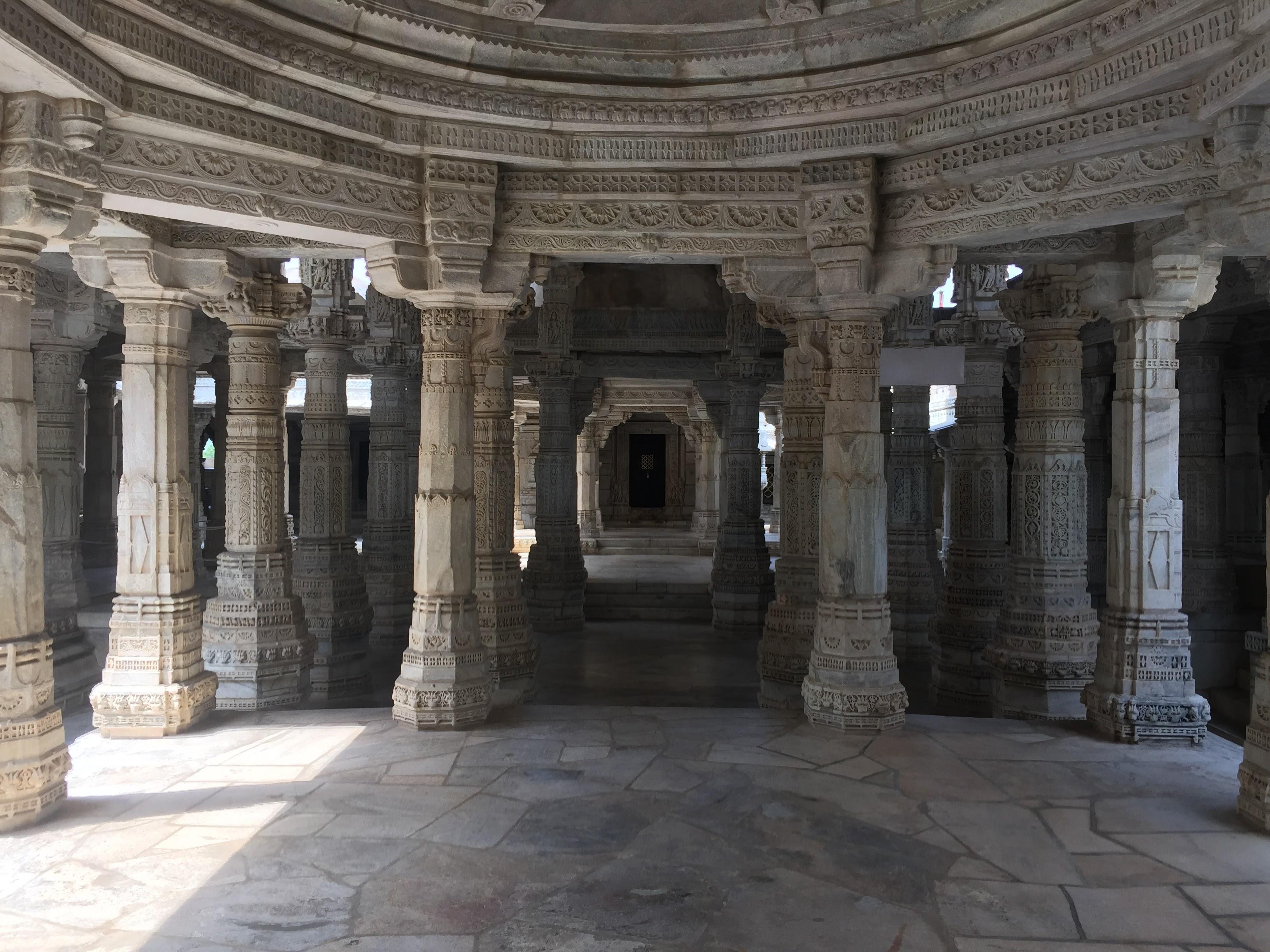 Inside Ranakpur Jain Temple