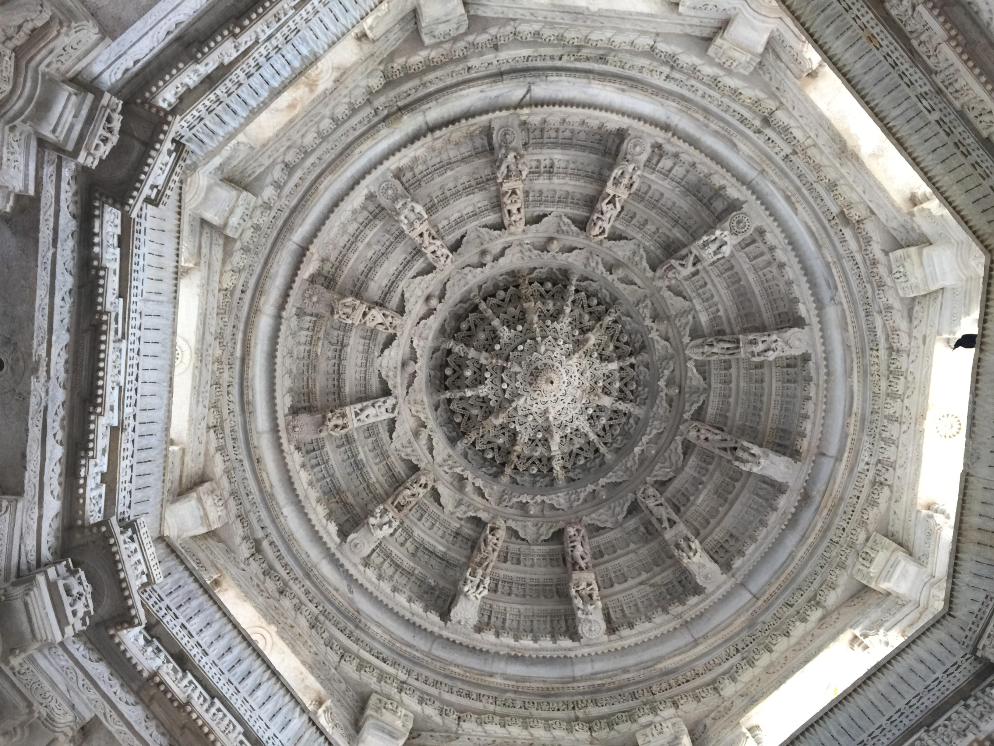 A ceiling inside Ranakpur Jain Temple
