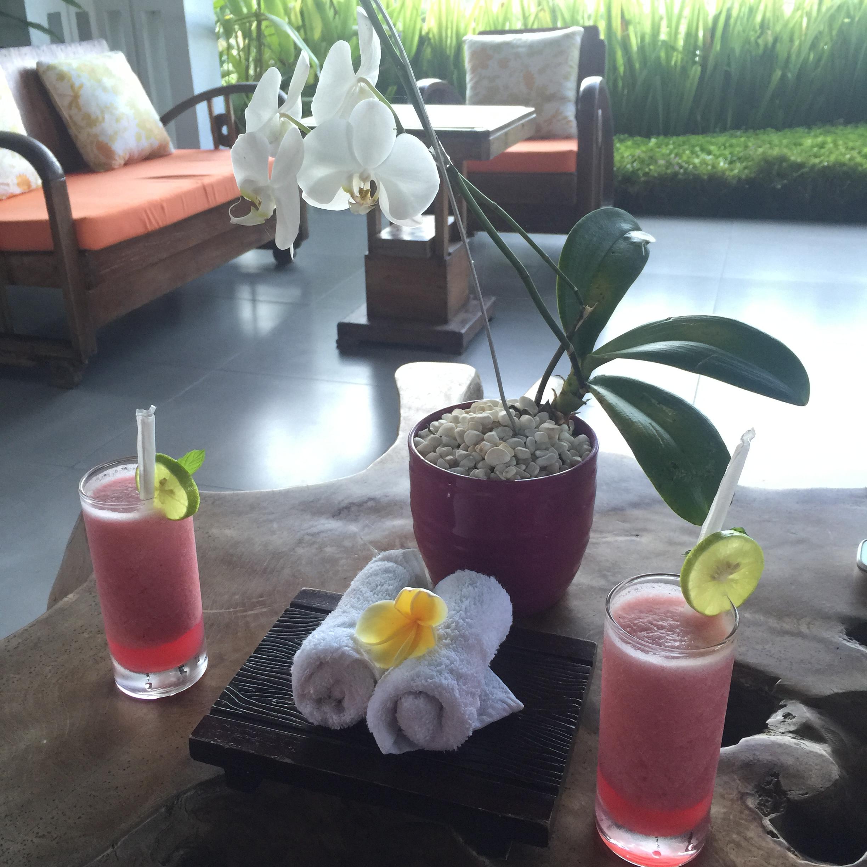 Welcoming Drinks at Samara Villas & Restaurant Ubud, Bali