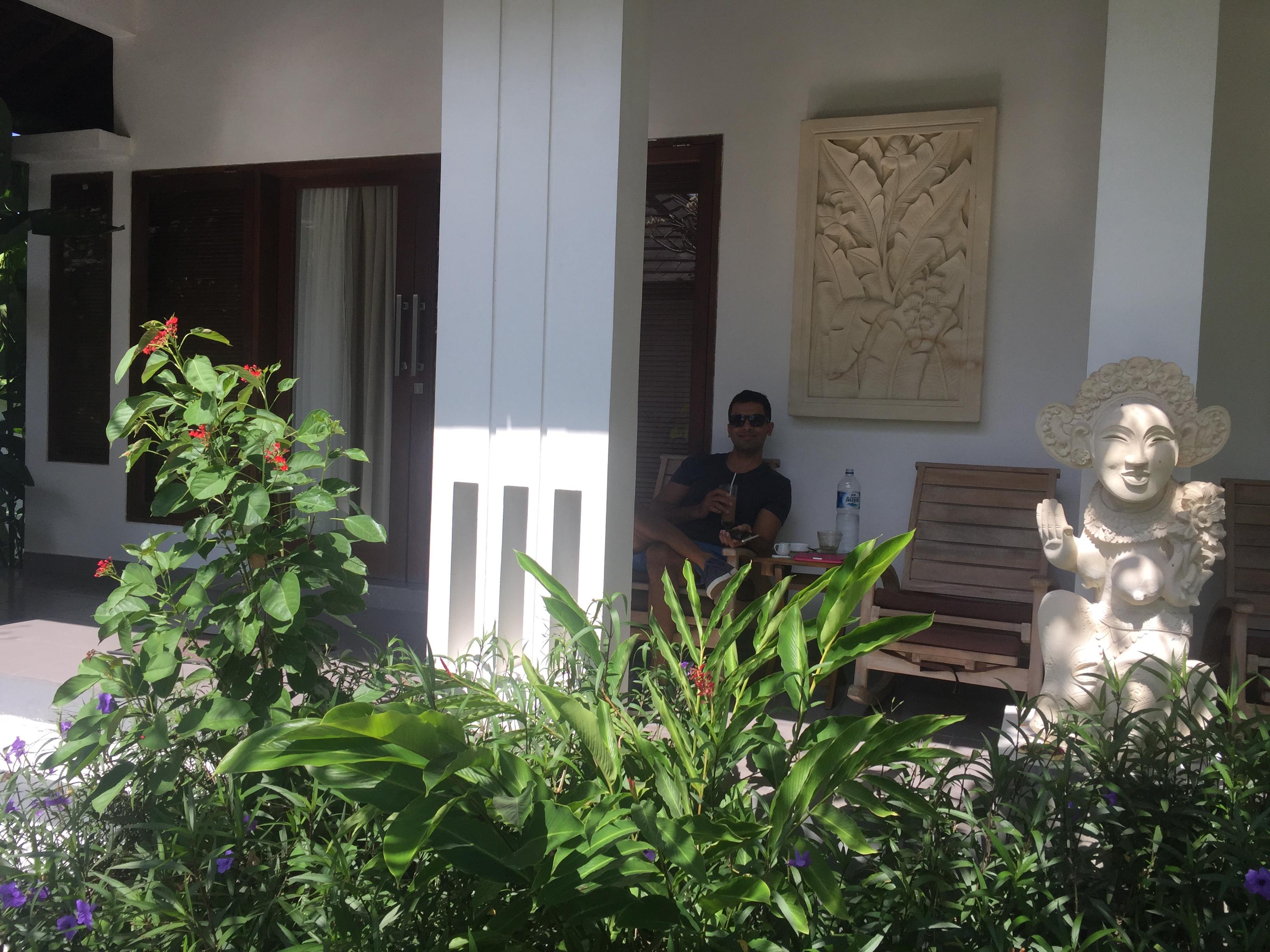Front Terrace at Samara Villas & Restaurant Ubud