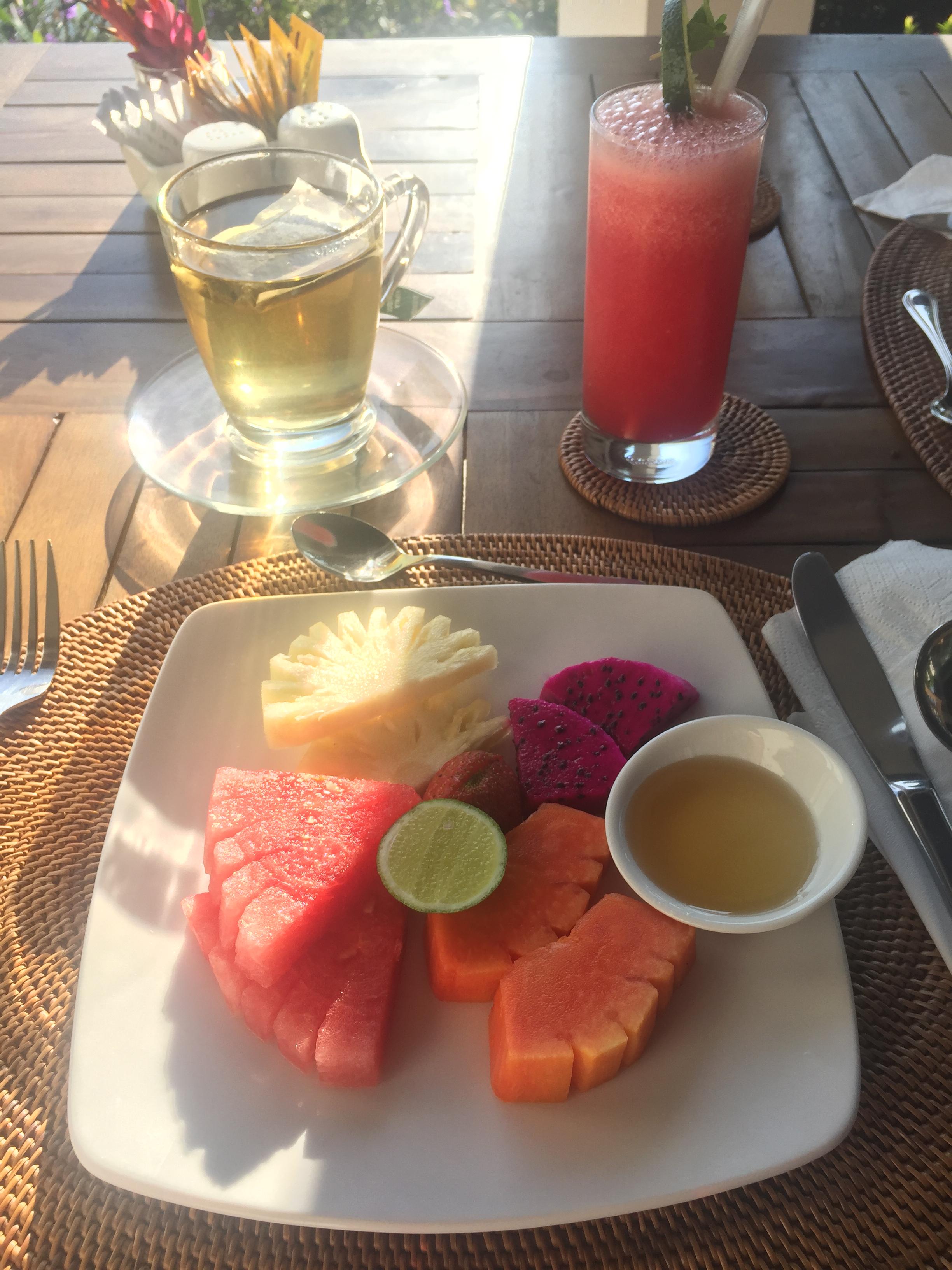 Breakfast at Samara Villas & Restaurant, Ubud